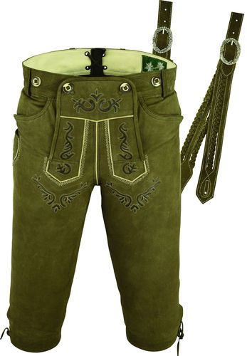 Trachten Knickerbockers Lederhose in Genuine Nubuck antique Leather