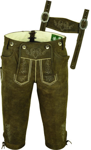 Costume Knickerbockers Leather Trousers in Genuine Cow antique