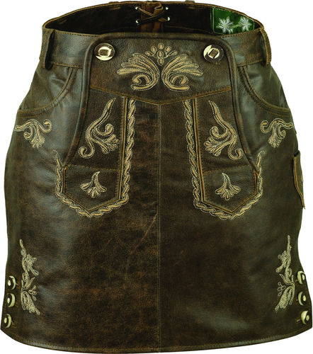 Trachten Womens Leather skirt antique