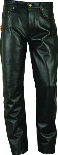 Real leather Trousers long for mens and womens in black