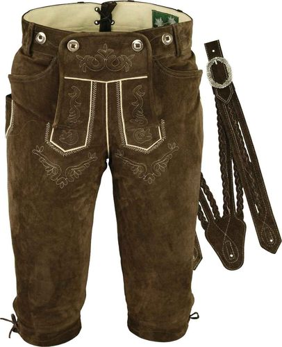 Costume Knickerbockers Leather Trousers in Genuine Leather Brown