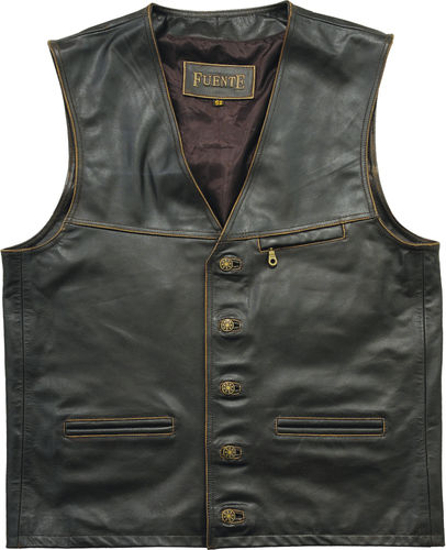 Real Leather Vest for Costume, Hunting oder Outdoor, 2 Colors