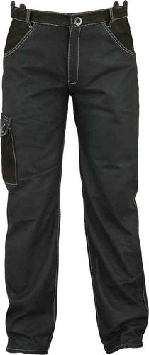 Cargo Hunting Leather Trousers long in Real antique Nubuck Leather