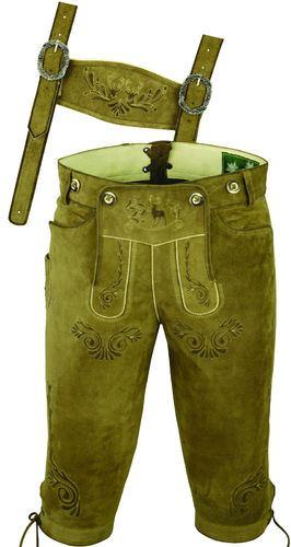 Costume Knickerbockers Leather Trousers in Genuine Goat seud
