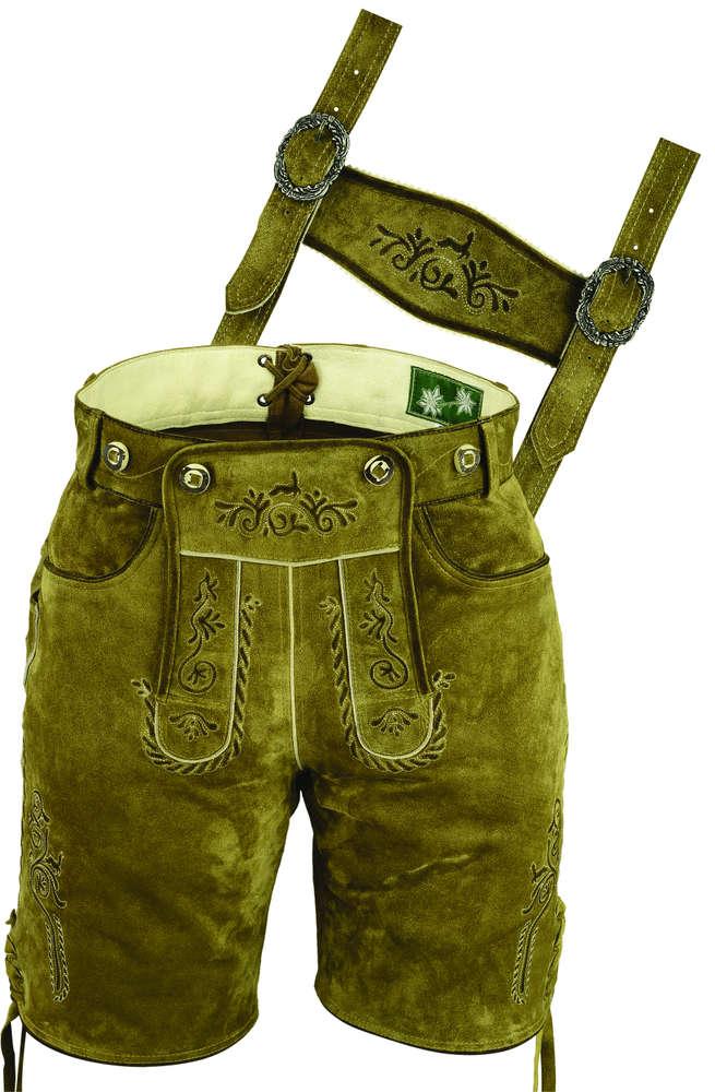 3bb7c70ea2da15 Kurze Lederhose Damen- Kurze Lederhose Herren günstig- Plattler Lederhose  kaufen- Oktoberfest Outfit