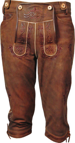 Trachten Knickerbocker Lederhose in Genuine distressed Leather