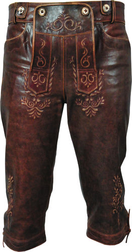 mens leather jeans antique brown leather pants new trousers  Lederjeans antik