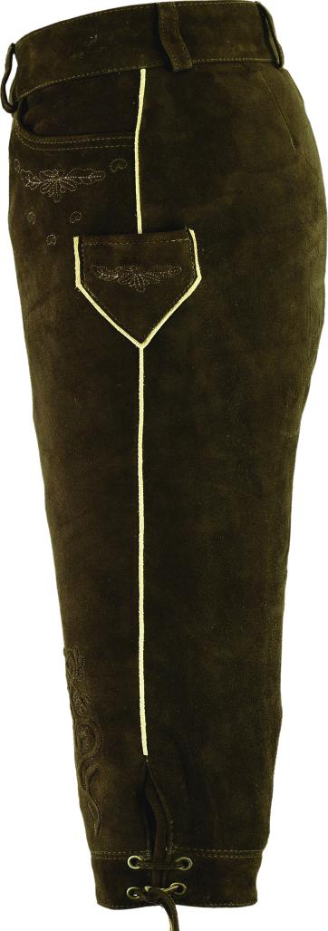 Lederhose Kniebund Damen- Trachten Lederhose Damen Knielang- Wildbock Leder  Braun f47fbf5c6d