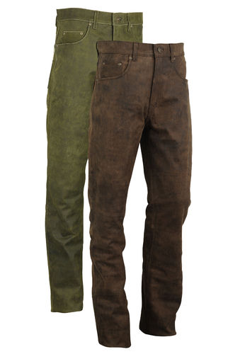 Hunters Leather Trousers genuine antique Nubuck Leather-2 Colors