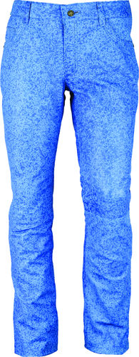 Slim fit soft lambskin leather trousers long in blue