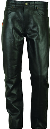 Long Leather Pants- Genuine Aniline Leather Pants in Black