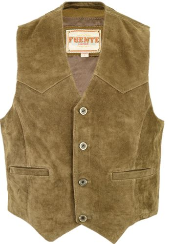 Real leather Vest for Mens-Womens in 3 Colors