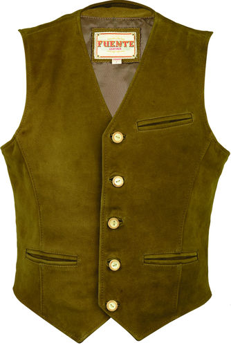 Genuine leather Nubuck Leather Vest 3 Colors
