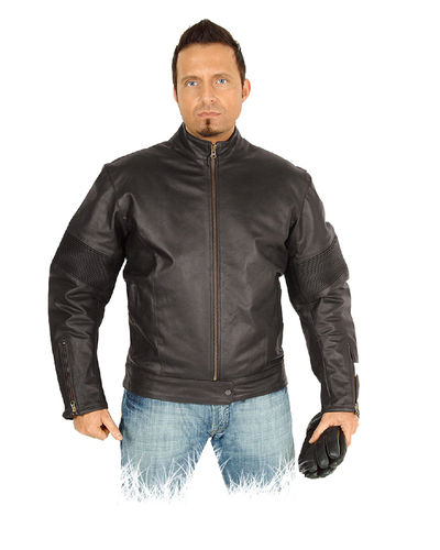 Mens Motorcyle leather jackets in brown