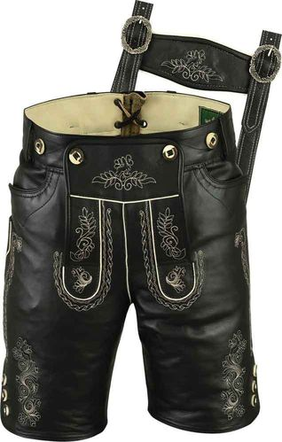 Costume short leather pants for mens and womens, Trachten Lederhosen