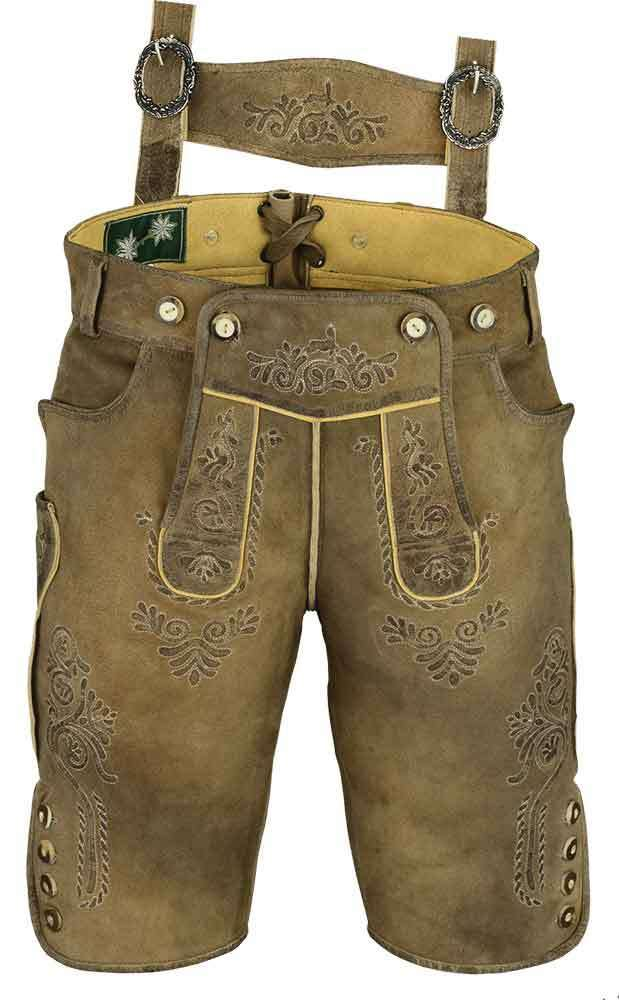 f451e830 Costume short leather pants for mens and womens, Lederhosen in Beige olive