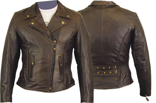 Motorbike Leather jacket for mens in Nappa Leder
