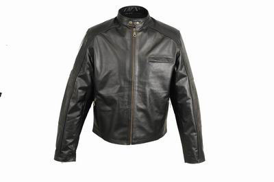 Motorbike Leather jacket for mens in Nappa Leder Black